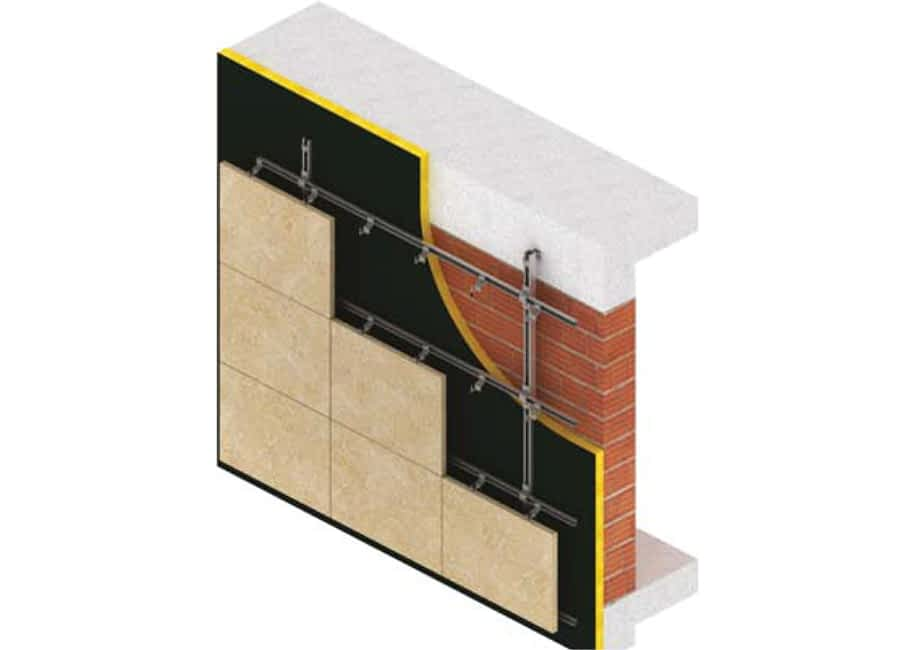 Indirect fixing at horizontal joints with HMPC-HC1H system